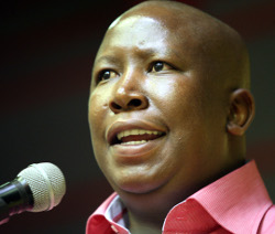 Julius Malema (Jelly Totsi - thanks Andrew D) looking like his good self