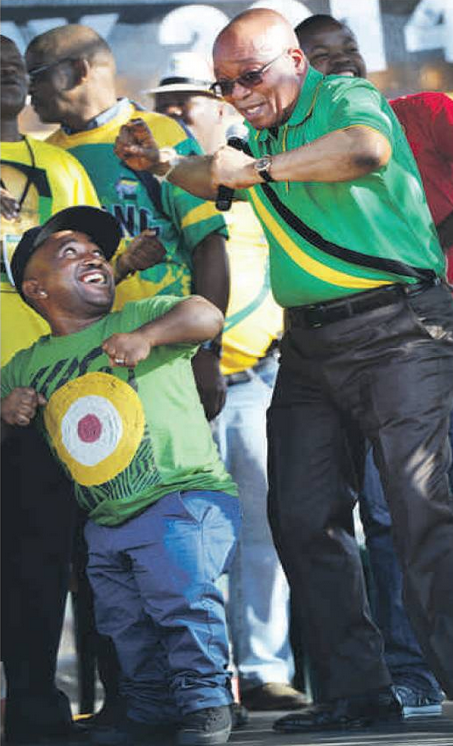 JZ with  DJ Finzo Lannister at the the Fezile Dabi Stadium on Saturday
